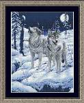 Howling at the Moon - Cross Stitch Pattern