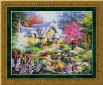 Cottage Pond - Cross Stitch Pattern
