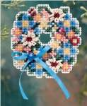 Spring Wreath Pin - Cross Stitch Bead Kits