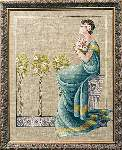 Damask Roses - Cross Stitch
