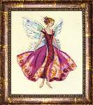 January Garnet Fairy - Cross Stitch