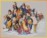 The Eight Immortals - Cross Stitch Pattern