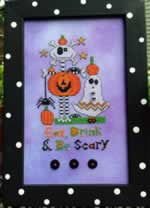 Eat Drink and Be Scary - Cross Stitch Pattern