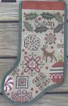 Holly Quaker Stocking - Cross Stitch Pattern