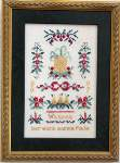 Colonial Christmas Welcome Sampler - Cross Stitch Pattern