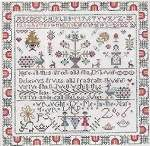 Knots and Flowers Sampler - Cross Stitch
