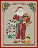 Pajama Santa - Cross Stitch Pattern
