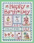 Happy Birthday for Girls - Cross Stitch