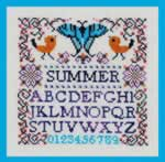 Mini Summer Sampler - Cross Stitch Pattern