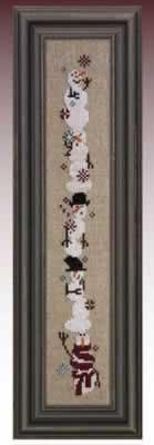 Giggly Wigglies Snowmen - Cross Stitch Pattern