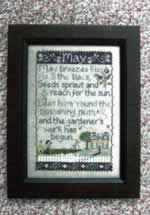 May Sampler - Cross Stitch