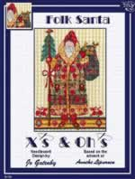 Folk Santa - Cross Stitch Pattern