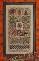Halloween Quilt Sampler - Cross Stitch Pattern
