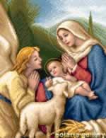 Madonna and Child with Angel - Cross Stitch