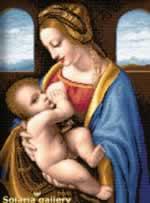 Madonna Litta - Cross Stitch
