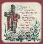 I Asked Jesus - Cross Stitch