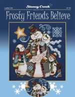 Frosty Friends Believe - Cross Stitch Pattern