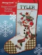 Happy Friends Holiday Stocking - Cross Stitch Pattern