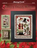 Santa and Friends Welcome - Cross Stitch Pattern