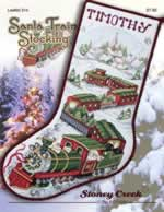 Santa Train Stocking