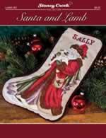 Santa and Lamb Stocking