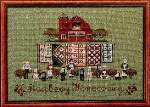 Raspberry Homecoming - Cross Stitch