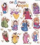 Cat and Puppy Angels - Cross Stitch Pattern