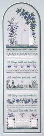 Sweet Pea Gazebo - Cross Stitch