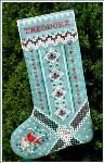 Christmas Cardinal Stocking - Cross Stitch Pattern