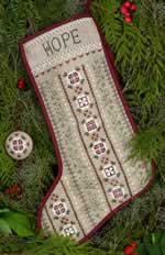 Mistletoe Stocking - Cross Stitch Pattern