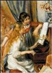 Two Girls at a Piano - Cross Stitch Pattern