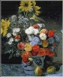 Mixed Flowers in a Vase - Cross Stitch Pattern