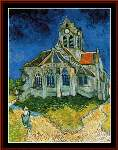 Church at Auvers - Cross Stitch Pattern